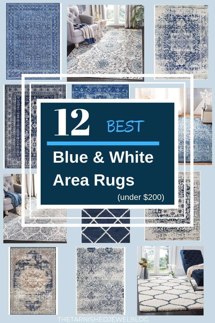 12 Best Navy And White Area Rugs Under 200 White Area Rug