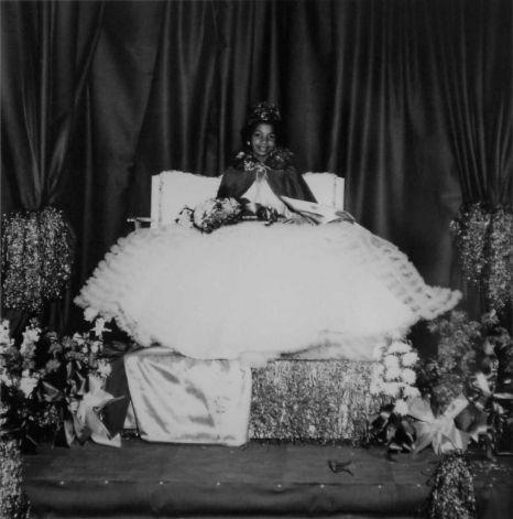 Lexia Woods, Homecoming Queen of J. H. Rowe High School in Jasper Texas, 195?.