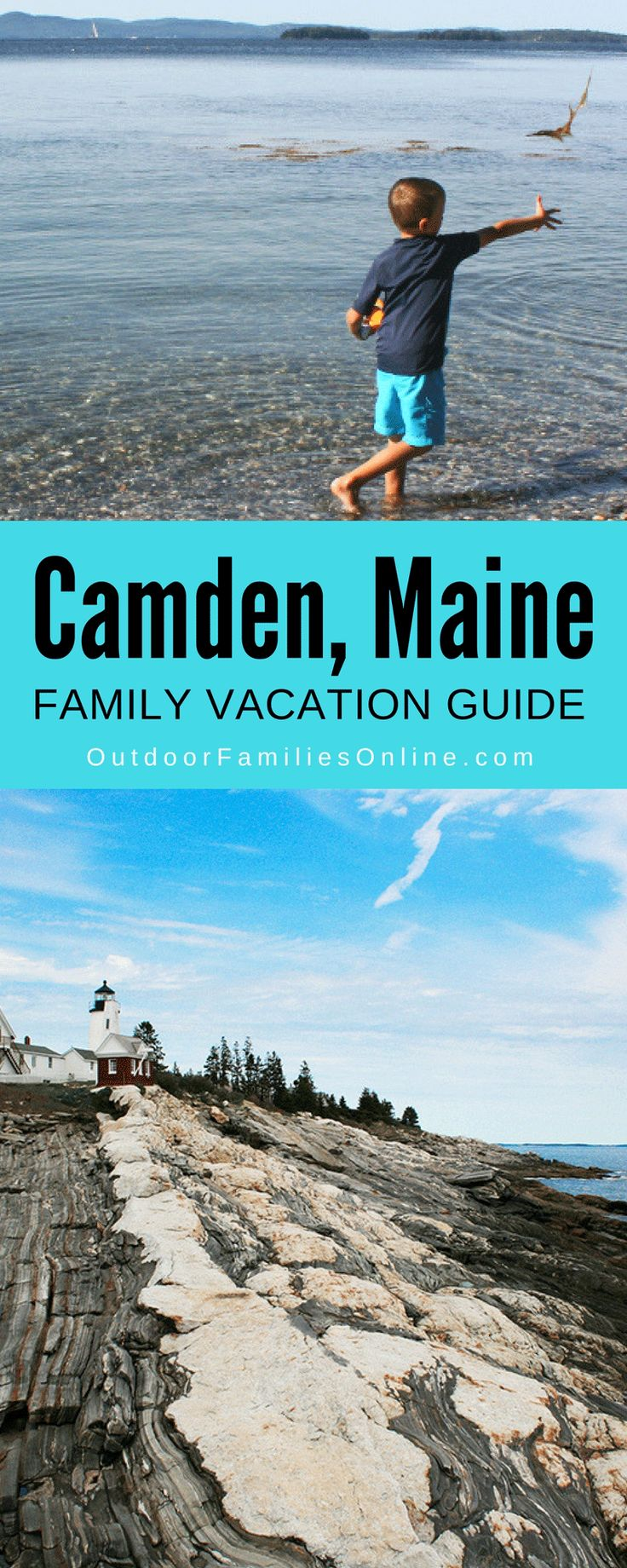 Explore rocky beaches, sail bright blue atlantic waters, and enjoy fun-filled outdoor family excursions in Camden, Maine with this family vacation guide.