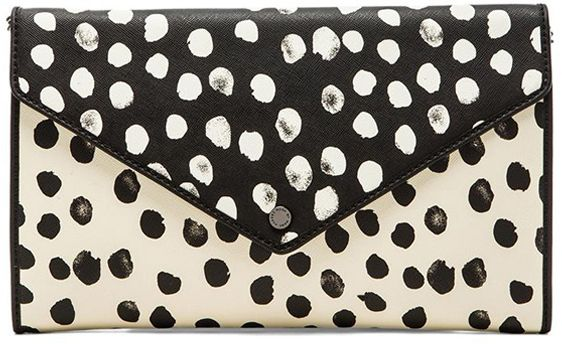 LOVE LOVE LOVE! Who could pass up on this beautiful Marc Jacobs cloth with the dots and metallic details #marcjacobs #clutch