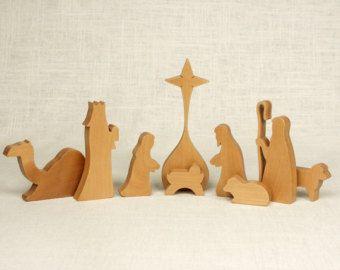 Ornement de Noël Nativité ornement scène de la par OakAndAnvilWorks