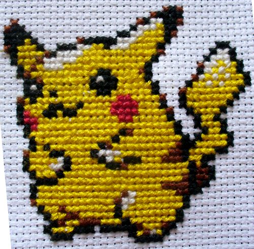 Pikachu: Cross Stitch by Nickle4aPickle.deviantart.com on @deviantART