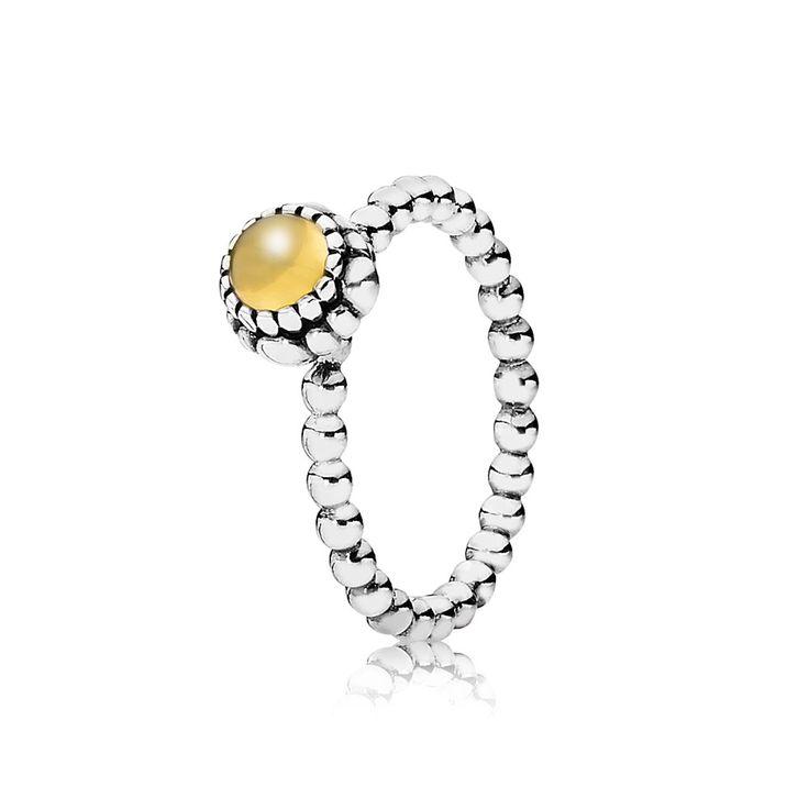 Pandora Citrine Birthstone Ring