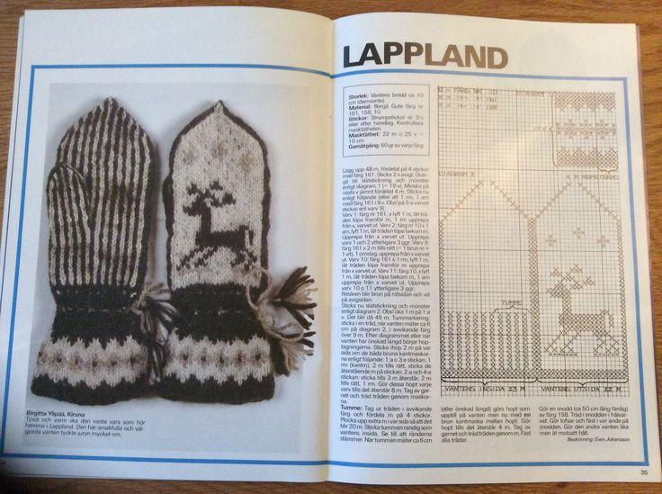 Lappland, sweden, mittens, knitting