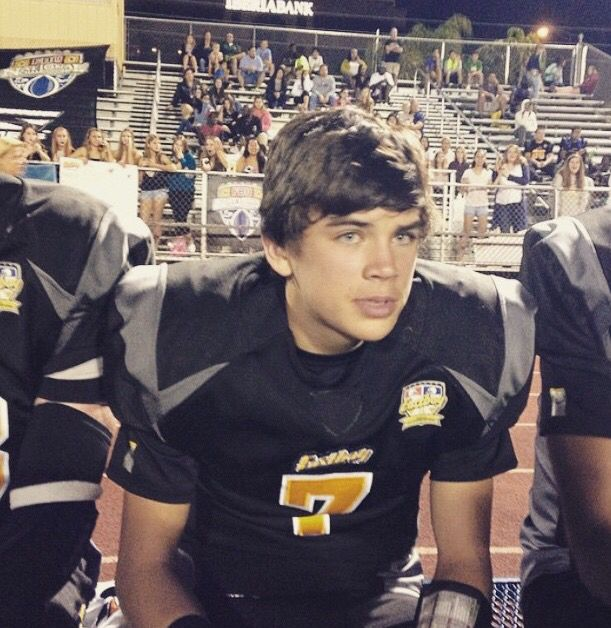 "Imagine: you were a cheerleader on hayes' football team. You did a flip in the air and he stared at you like this because your spankies were showing. His friend next to him said   ""keep your eyes in your head tiger""."
