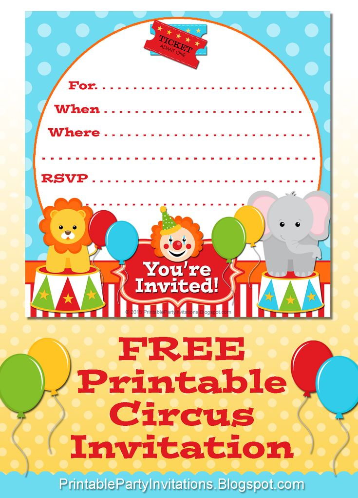 322 best Festa circo images on Pinterest Paper crafts, Paper - circus party invitation