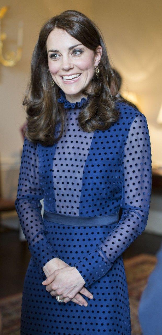Kate Middleton em evento no Kensington Palace, em Londres (Foto: AFP)