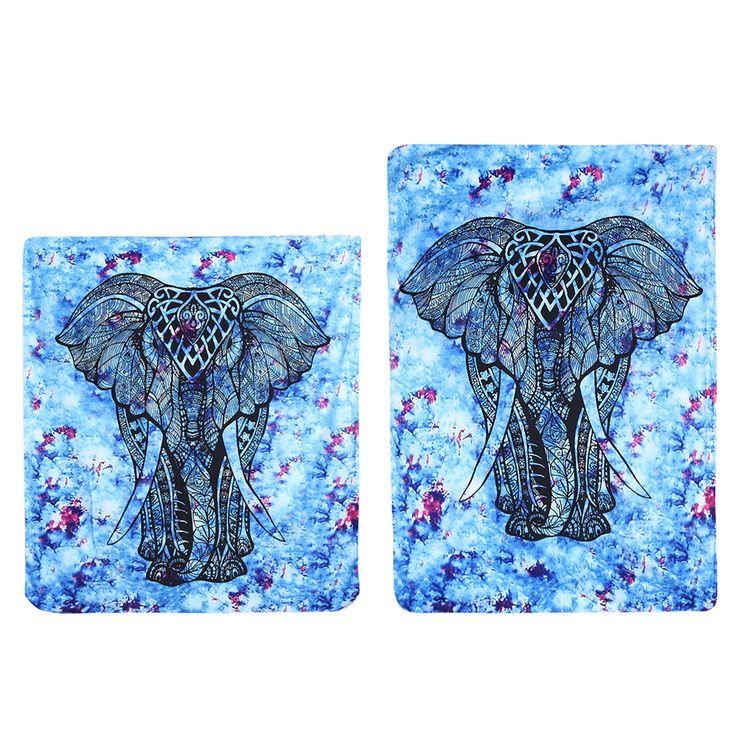 New Tenture Mural Elephant Mandala Tapestry Wall Hanging Hippie Towel Square Bohemian Mandalas Tapiz Beach Blanket Tapestries #Affiliate