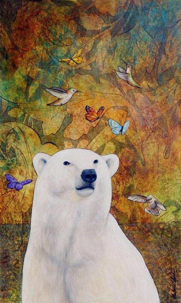 """""""Polar Bear Dream"""" ( Etsy:: http://www.etsy.com/listing/84382427/polar-bear-art-print-polar-bear-dream-11 )"""