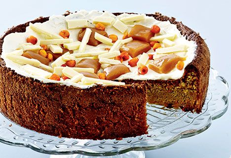Gulerodskage med havtorn og karameller