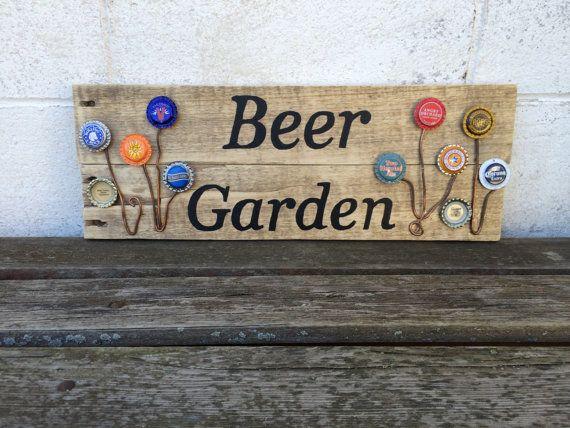 Beer Garden Sign Reclaimed Pallet Wood Beer by RiceWineDIYShop