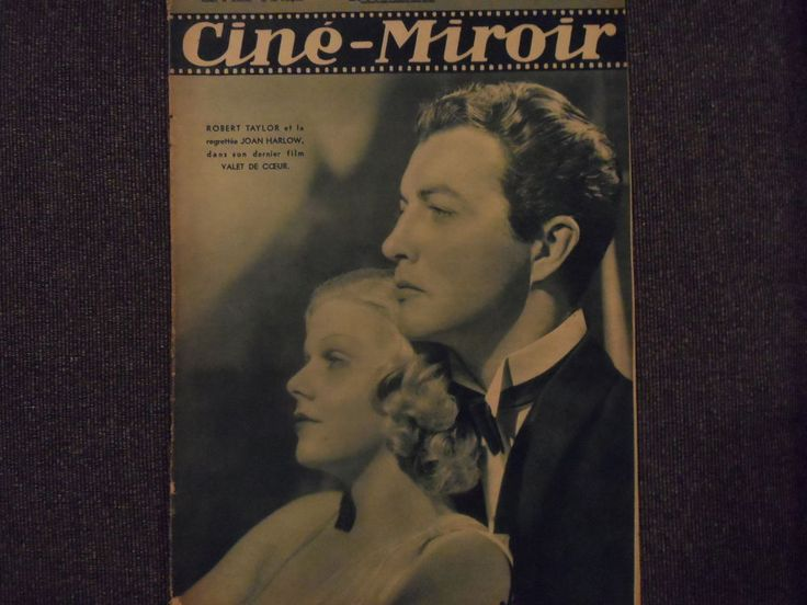 JEAN HARLOW AND ROBERT TAYLOR CINE-MIRROR COVER MAGAZINE JUNE 25, 1937