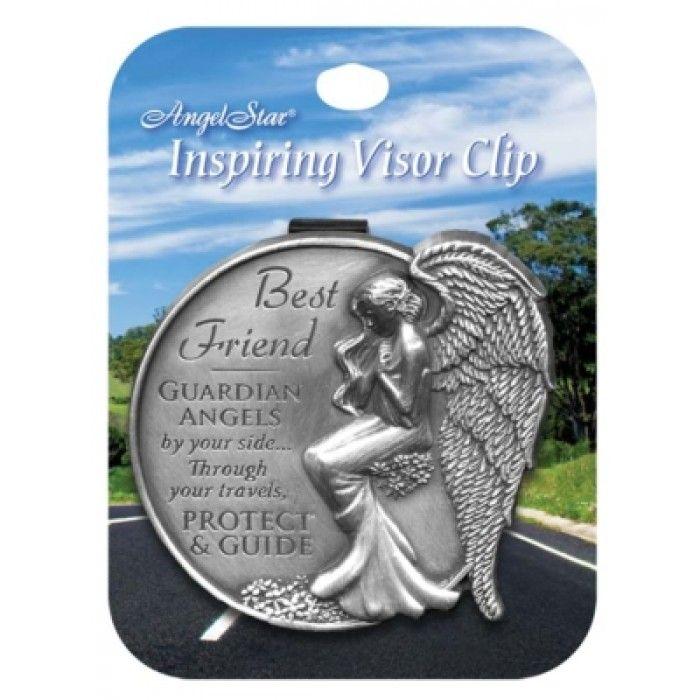 Best Friend Guardian Angel Visor Clip