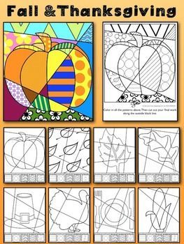 "Fall and Thanksgiving Art Activity: ""Pop Art"" Interactive:"