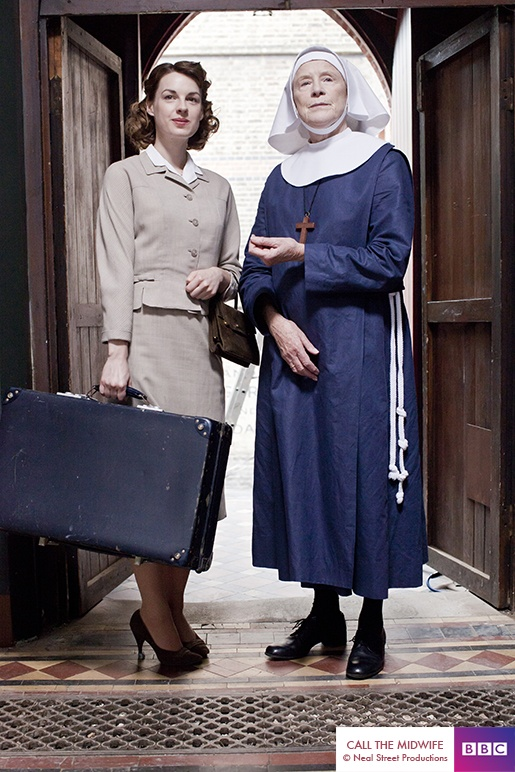 Meet Jenny Lee and Sister Monica Joan from CALL THE MIDWIFE - and we shall have cake. All of the cake.