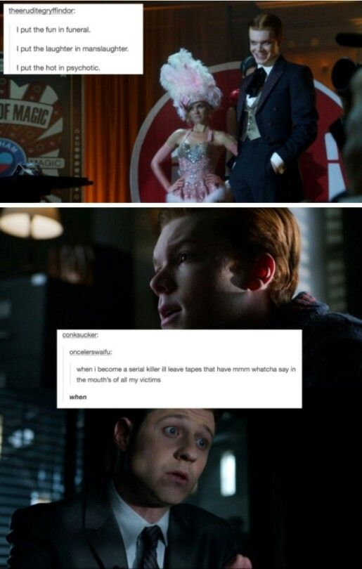 Gotham text post