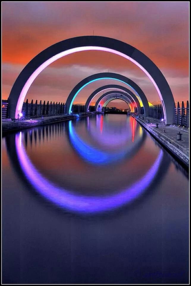 The Falkirk Wheel, Scotland.  #RealEstate #ArtfulArchitecture     It can be a daunting task to decide how to best sell or let your property.      See more at: http://castlesmart.com/