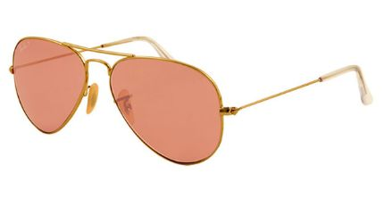 Ray Ban RB3025 Aviator Large Metal Polarized 001 15 Shiny Gold