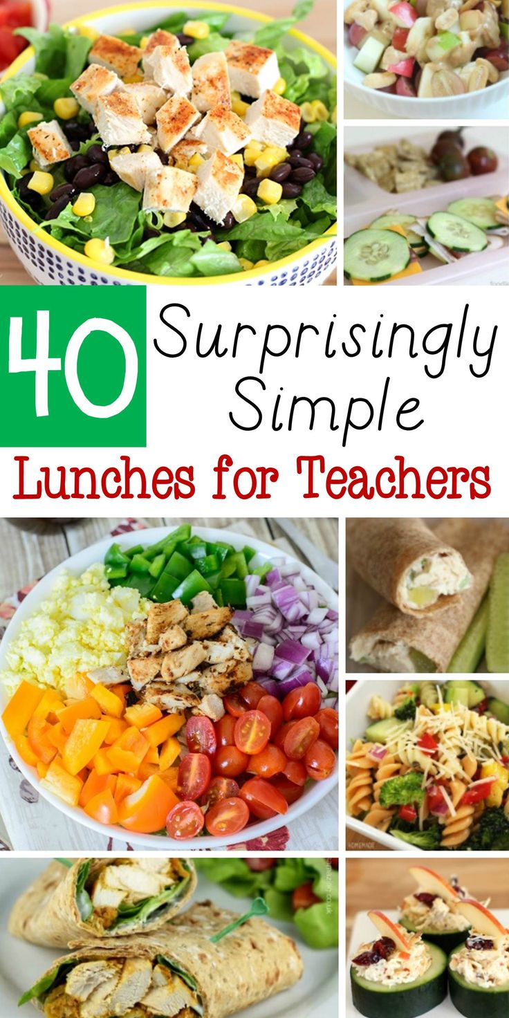 This list of 40 teacher lunches is perfect to keep on hand for back to school season or anytime. Make packing a teacher lunch for school easy! Sponsored by Tap Influence
