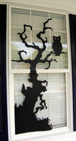 halloween decor for your windows /// Tolle Deko für die Fenster! #Eule #owl