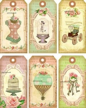 shabby paris chic tags by angelique