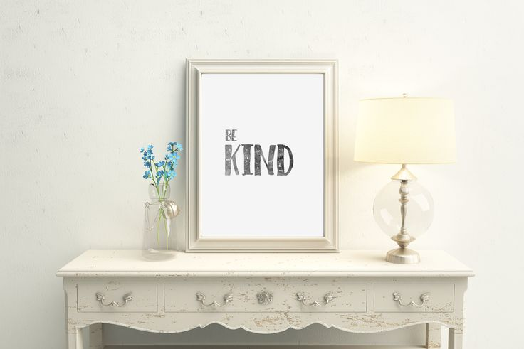 Watercolour Be Kind Typography Print