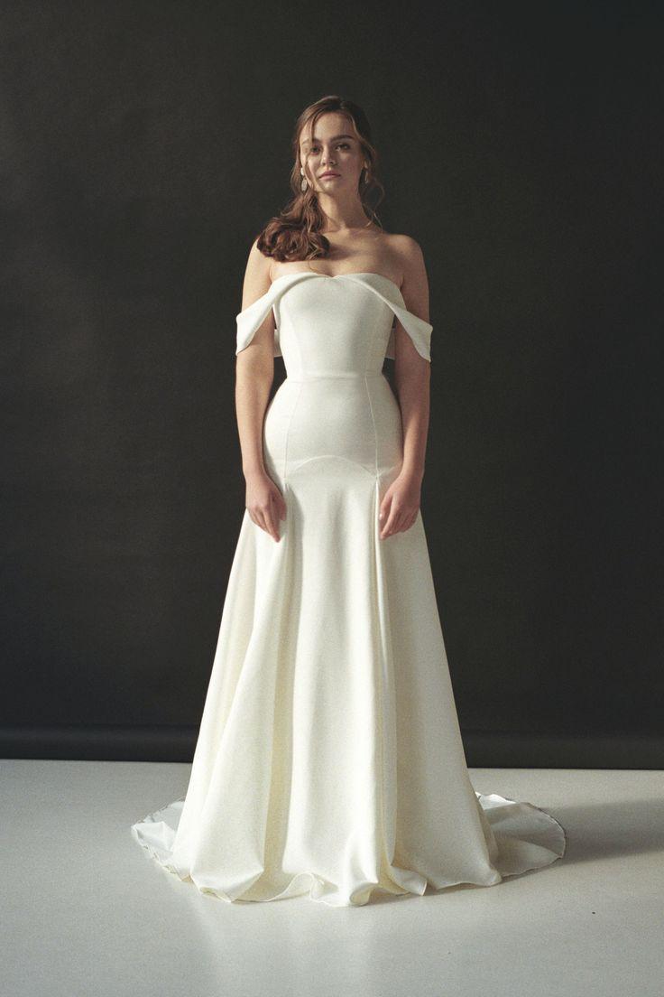 Pin On Sleek Minimal Wedding Gowns Slips Sheaths Silk Textures