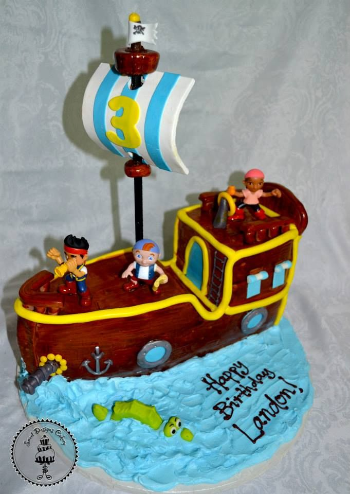 Pirate ship themed 3D cake 999412_561796460544720_973002377_n.jpg (681×960)