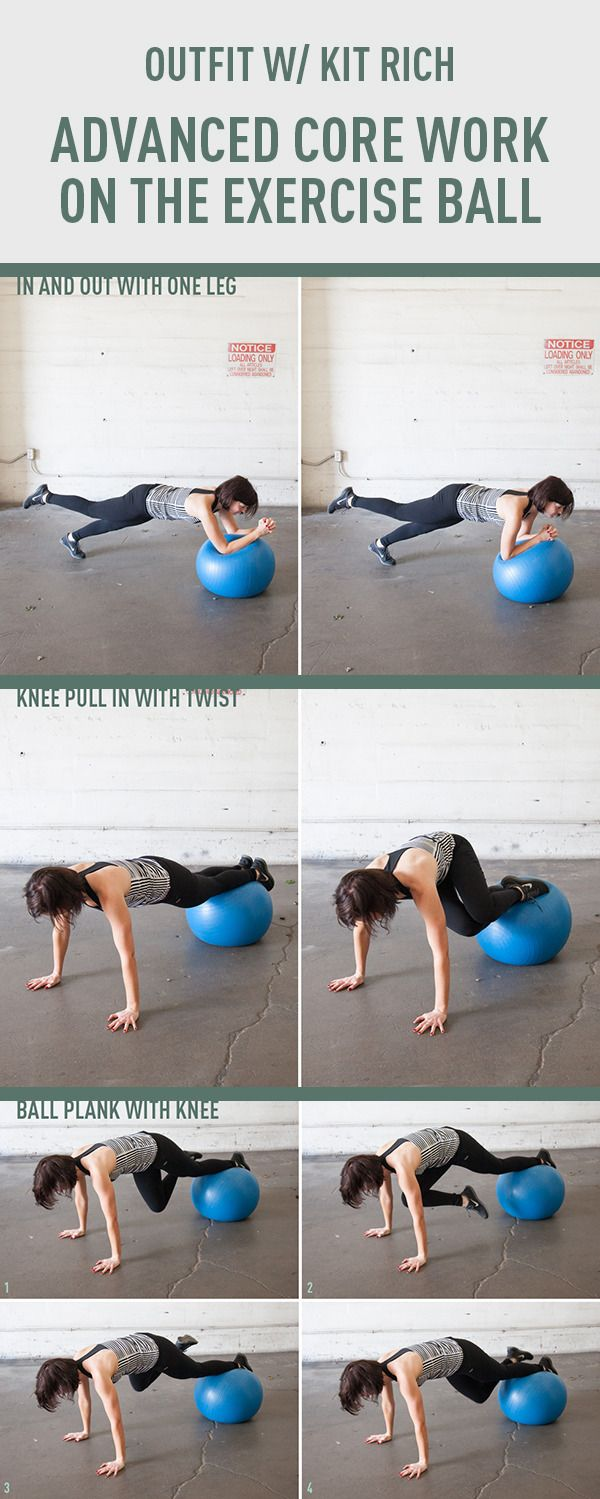 Advanced Core Work on the Exercise Ball. http://www.gymra.com/... #fitness #exercise #weightloss #diet #fitspiration #fitspo #health