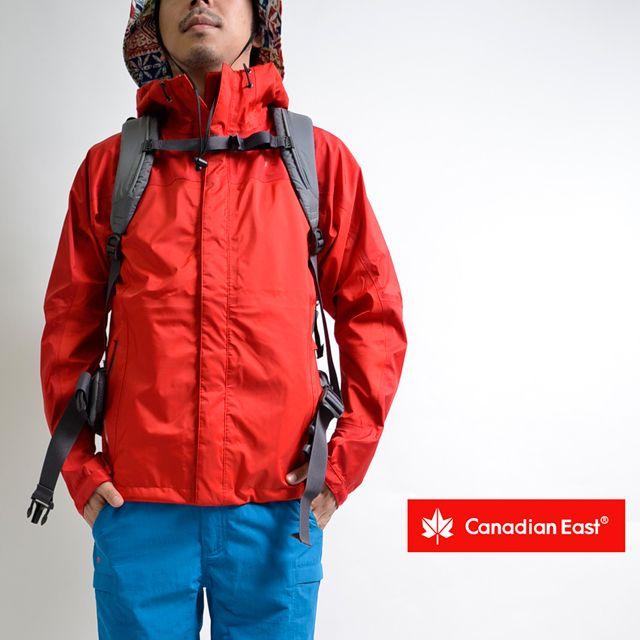 CanadianEast登山ファッションメンズトレッキング3レイヤーマウンテンジャケットハードシェルレインウェアアウトドアカナディアンイーストCEW1334[男性用/雨具/カッパ/登山/防水/透湿/軽量/耐水圧/30000mm/透湿性/15000g/m/富士登山/小松精練/DIMATECH/3層構造]