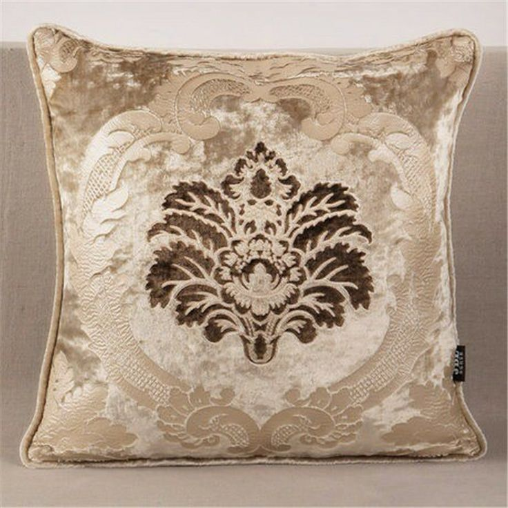 Home Sofa Decoration Luxurious Velvet Pattern Pillow Cover Cushions Bed Pillows 45 45cm Free