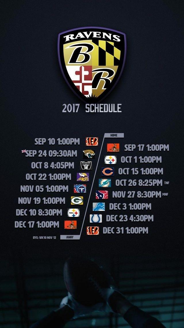 Baltimore Ravens 2017-18 schedule