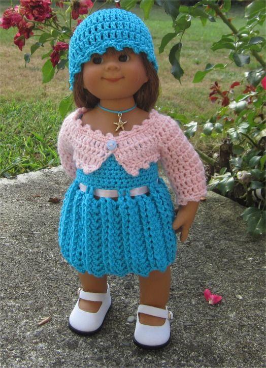 100- FICHE PATRON Tenue Séréna au crochet pour poupée Wichtel : Jeux, jouets par…