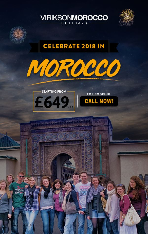 Another memorable year at #ViriksonMoroccoHolidays. The year 2018 is upon us, so on this special occasion, We are offering you the discounted all-inclusive Holiday package with great services.   For Booking Call us at 020 37455788.   Let's celebrate this #newseason with us in the Royal #Morocco with your loved ones.  #NewYear2018 #NewYearDeal #Holidays‪ #Moroccotravel #NewYearPackage #Travellingmorocco #ChristmasGifts #HolidayDeal #Christmasdeal #Christmasspecial #LuxuryTours #HappyNewYear