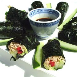 Make your own healthy, low-carb sushi at home with this fun recipe.