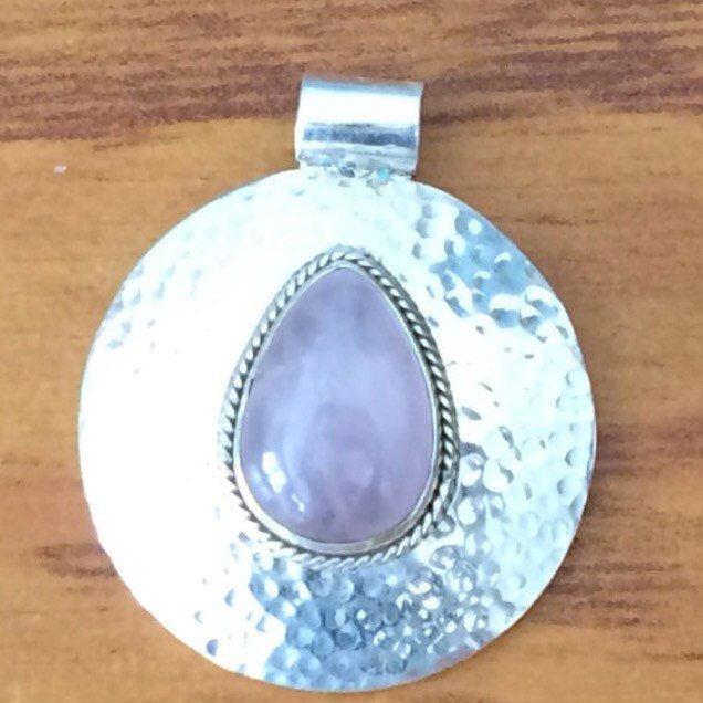 Ready to buy from our store Stirling Silver Pendant with Rose Quartz