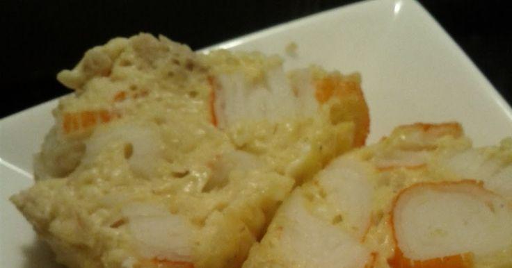 pastel de palitos de cangrejo