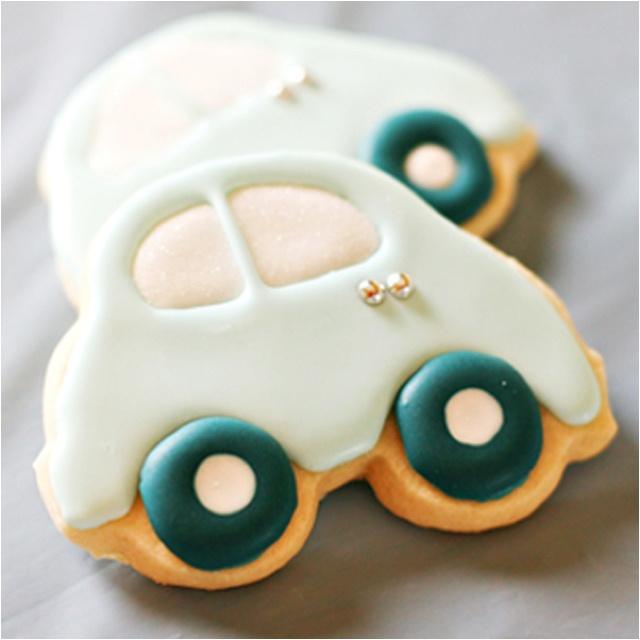white slug bug cookies