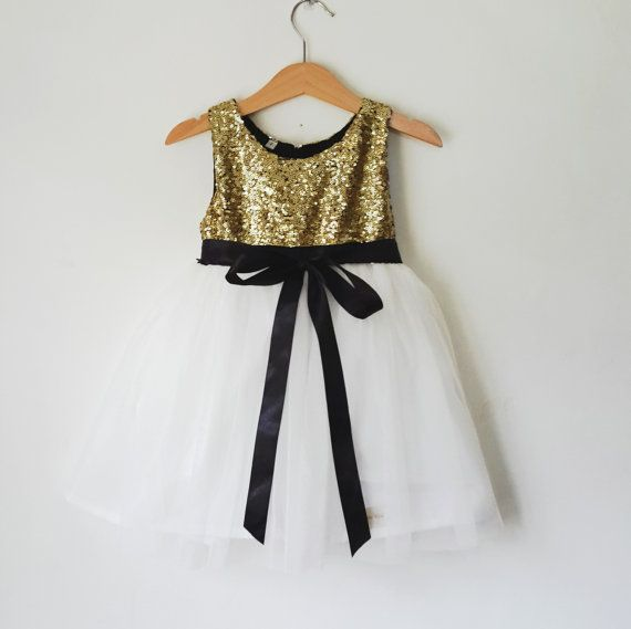 Hey, I found this really awesome Etsy listing at https://www.etsy.com/listing/253188648/gold-and-white-flower-girls-dress-gold