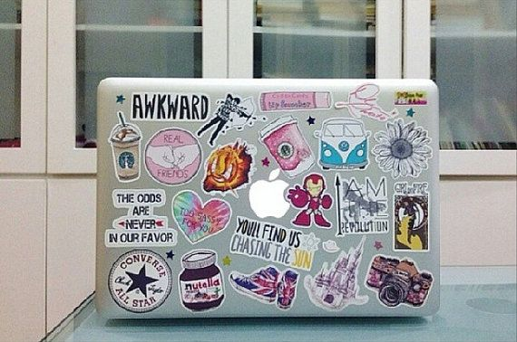 Awesome tumblr, fandom and band stickers, over 1000+ designs available! (you pick) on Etsy, $0.82