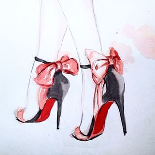 now on the blog how to illustrate party shoes like these link in my