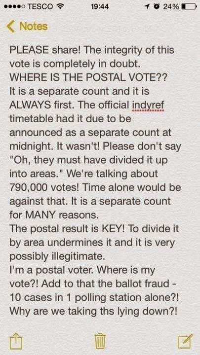 Where Are The Postal Votes! #udiNOW