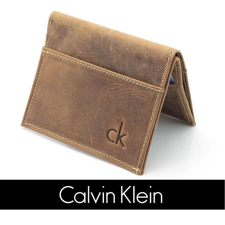 Carteira Masculina Pequena Calvin Klein Ck Couro Original - R$ 39,90
