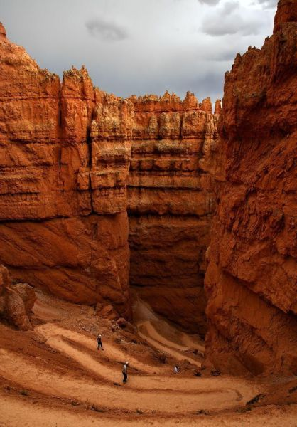 Bryce Canyon, UT by far Utah is probably one of the most beautiful places in the US and a favorite of mine.  Bryce Canyon is amazing the color of the sandstone hoodoos against the blue sky is breathtaking.