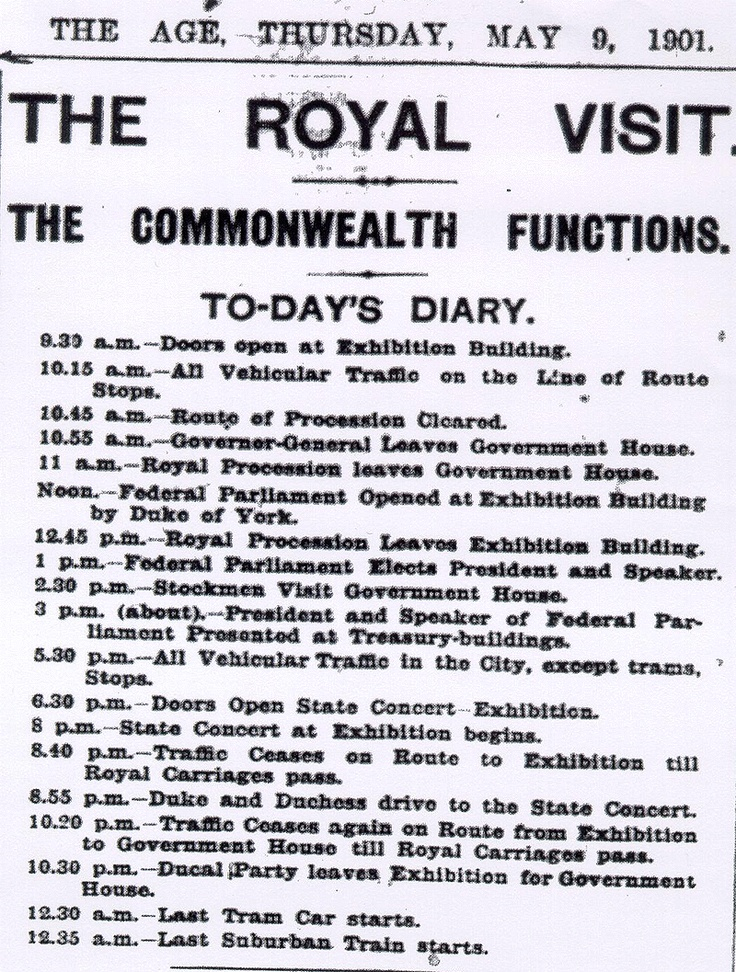 The Age newspaper 9th May.1901. Federation Day Australia