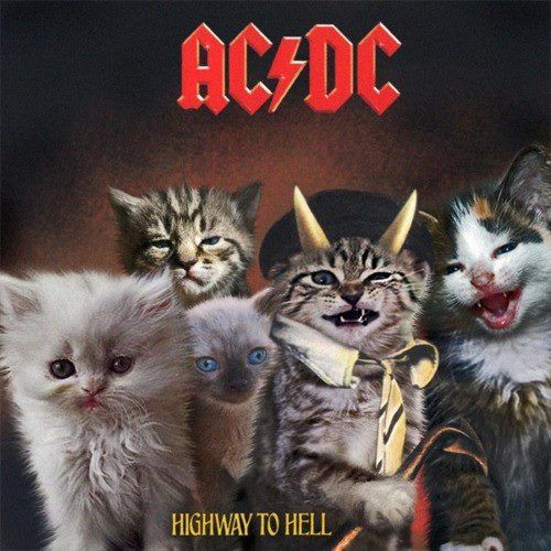 AC/DC Highway to Hell (repinning because i happen to be wearing the actual highway to hell shirt lol)