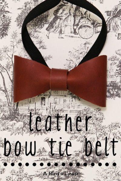 A Bird's Leap: DIY Leather Bow Tie Belt