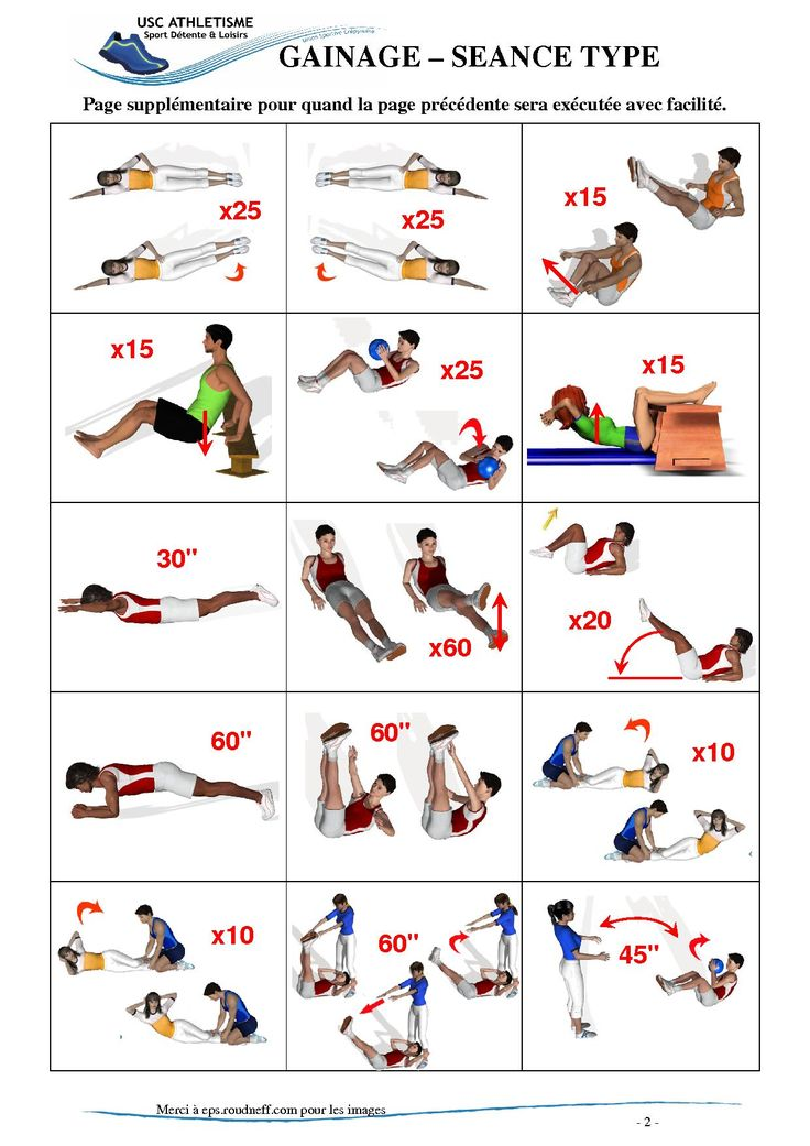 Voici la serie d'exercice n°2 (Gainage, page 2, sept. 2010)