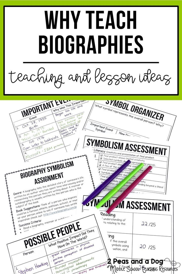Why Teach Biographies? | HIGH SCHOOL English Lessons, Ideas