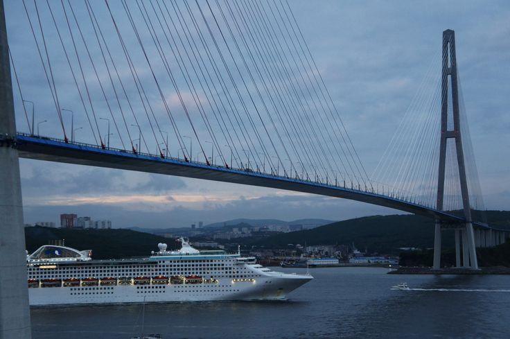 Russky bridge filming location in Vladivostok, Primorye film commission